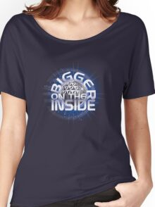 SSE-Bigger on the Inside-Blue Women's Relaxed Fit T-Shirt