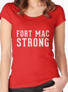 Fort Mac Strong (unisex, white) - Support Fort Mac Women's Fitted Scoop T-Shirt