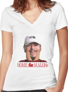 POST MALONE - HOME MALONE Women's Fitted V-Neck T-Shirt