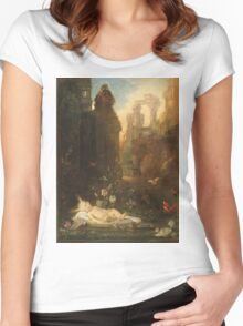 Vintage famous art - Gustave Moreau - The Infant Moses 1876  Women's Fitted Scoop T-Shirt
