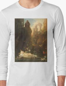 Vintage famous art - Gustave Moreau - The Infant Moses 1876  Long Sleeve T-Shirt
