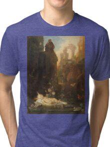 Vintage famous art - Gustave Moreau - The Infant Moses 1876  Tri-blend T-Shirt