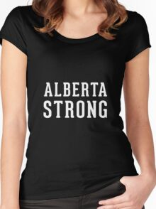 Alberta Strong (unisex) - Support Ft Mac Women's Fitted Scoop T-Shirt