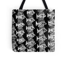 Black and White Abstract Fish Art Tote Bag Tote Bag