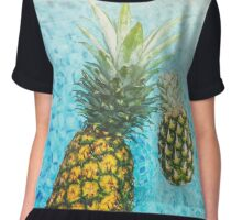 Floating Pineapples Chiffon Top