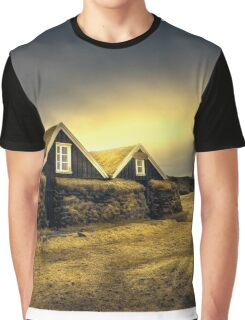 Old Huts Graphic T-Shirt