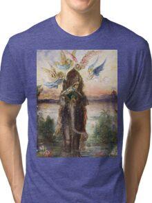 Vintage famous art - Gustave Moreau - The Sacred Elephant 1882 Tri-blend T-Shirt