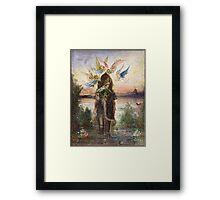 Vintage famous art - Gustave Moreau - The Sacred Elephant 1882 Framed Print