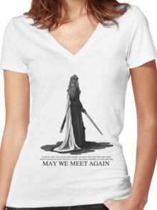 LEXA - May We Meet Again. (the 100) Women's Fitted V-Neck T-Shirt