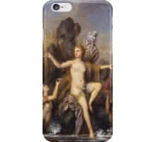 Vintage famous art - Gustave Moreau - Venus Rising From The Sea 1866 iPhone Case/Skin
