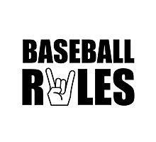 Baseball Rules Photographic Print