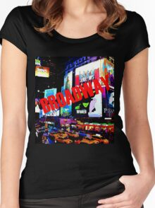 BROADWAY Lights Women's Fitted Scoop T-Shirt