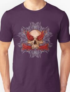 skull and flames of fire T-Shirt