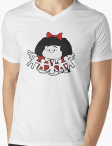 Mafalda Ops! Mens V-Neck T-Shirt