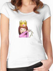 Emoji Queen Make it Rain Women's Fitted Scoop T-Shirt