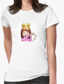 Emoji Queen Make it Rain Womens Fitted T-Shirt