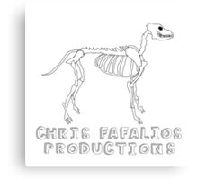Chris Fafalios Productions Skeledog! Canvas Print