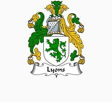 Lyons Coat of Arms / Lyons Family Crest Unisex T-Shirt