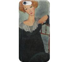 Amedeo Modigliani - Woman With Red Hair iPhone Case/Skin