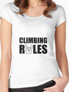 Climbing Rules Women's Fitted Scoop T-Shirt