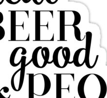 GOD AND BEER Sticker