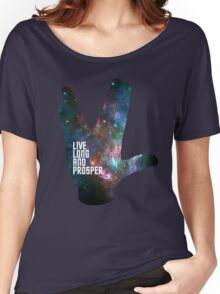 Star Trek - Galaxy - Live Long and Prosper Women's Relaxed Fit T-Shirt