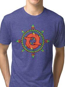 Shark Compass  Tri-blend T-Shirt