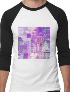 Beauty in Blue And Pink Men's Baseball ¾ T-Shirt