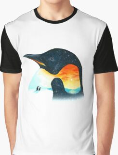 Penguin Sunset Graphic T-Shirt