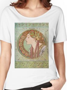 Alphonse Mucha - Laurel  Women's Relaxed Fit T-Shirt