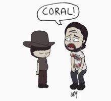 The Walking Dead, Coral meme illustration One Piece - Short Sleeve