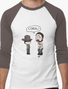 The Walking Dead, Coral meme illustration Men's Baseball ¾ T-Shirt