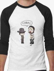 The Walking Dead, Coral meme illustration Men's Baseball ¾ T-Shirt