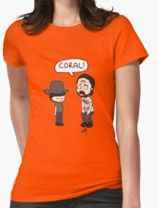 The Walking Dead, Coral meme illustration Womens Fitted T-Shirt
