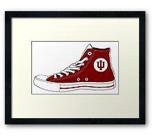 Indiana Converse Framed Print