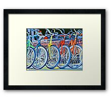 The Bicycle Shop, Bikes in a Row, Bicycle Picture Framed Print