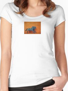 Circus Horses Digital Still Life Photograph Women's Fitted Scoop T-Shirt
