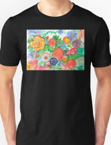 Garden of the Mind: Bright and Blooming Unisex T-Shirt