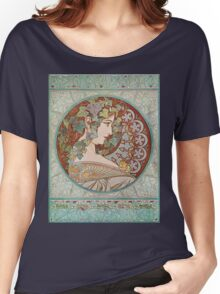 Alphonse Mucha - Ivy  Women's Relaxed Fit T-Shirt