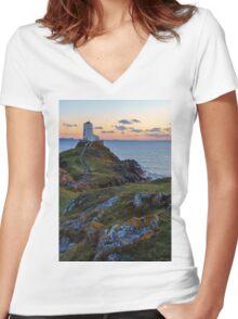 Llanddwyn Island National Nature Reserve Women's Fitted V-Neck T-Shirt