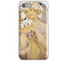 Alphonse Mucha - Flowers  iPhone Case/Skin
