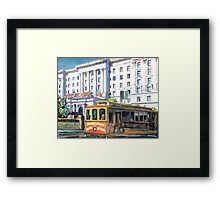 Cable Car 54 San Francisco California Picture Framed Print