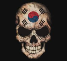 South Korean Flag Skull One Piece - Short Sleeve