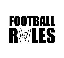 Football Rules Photographic Print