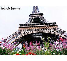 paris flowers snoopy Photographic Print