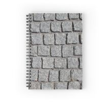 granite grey cobbles abstract background Spiral Notebook