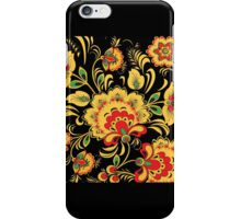 Yellow Flower pattern iPhone Case/Skin