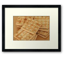 dry  biscuits cracker Framed Print