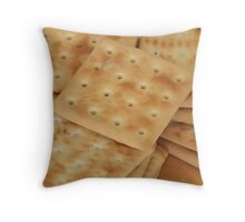 dry  biscuits cracker Throw Pillow
