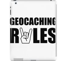 Geocaching Rules iPad Case/Skin